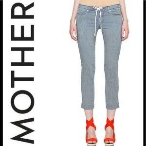 MOTHER Tie Me Up Rascal Striped Crop Pants Sz 27